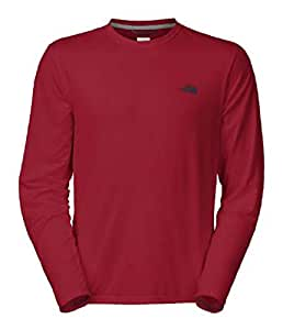 The North Face Reaxion Amp Crew - Long-Sleeve - Men's Biking Red/Cosmic Blue, M