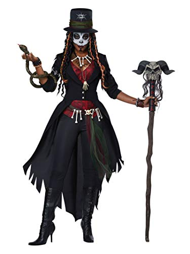 Voodoo Woman Halloween Costume (California Costumes Women's Voodoo Magic Costume, multi,)