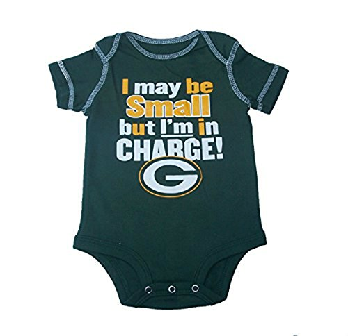 Green Bay Packers I'm In Charge! Infant Onesie Size 0-3 Months Bodysuit - Team Colors