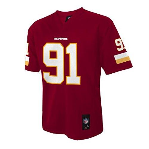 NFL Washington Redskins Ryan Kerrigan Boys 4-7 Mid-Tier Jersey, DK Cardinal, Small (4)