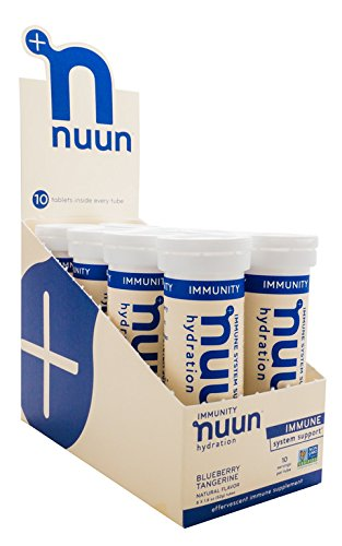 Nuun Immunity: Zinc, Turmeric, Elderberry, Ginger, Echinacea, and Electrolytes for an Anti-Inflammatory and Antioxidant Boost, 8-Pack