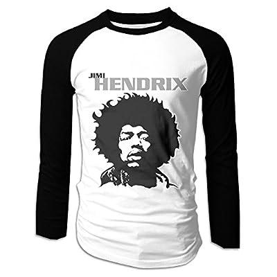Jimi Hendrix Close Up Portrait Long Sleeve Casual Raglan T-Shirt Men's