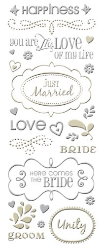 (K & Company Embossed Foil Stickers, Tie The Knot)