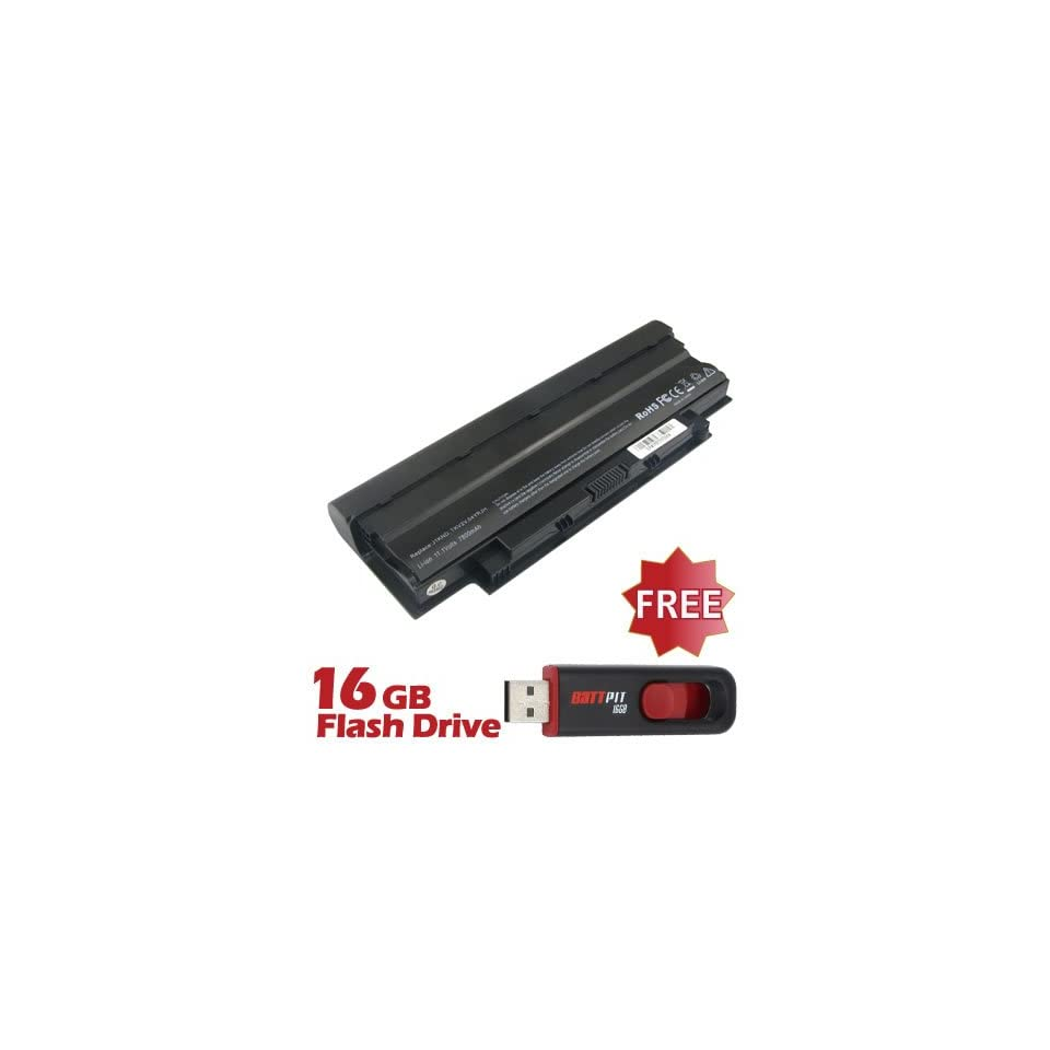 Battpit™ Laptop / Notebook Battery Replacement for Dell Inspiron N4010 148 (6600mAh / 71Wh) with FREE 16GB Battpit™ USB Flash Drive