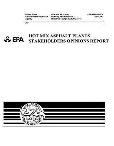 (Hot Mix Asphalt Plants Stakeholders Opinions Report)