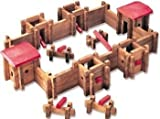Roy Toy Fort Wilderness Log Cabin 105 piece classic building set, real wood, made in the USA by paul bunyan