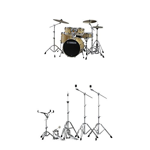 - Yamaha Stage Custom Birch Fusion Drum Kit with Hardware, Natural Wood