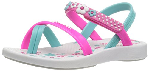 Ipanema Baby Blanket III Ankle Strap Sandal (Toddler), White/Pink/Blue, 5 M US (Ipanema Sandals Sale)
