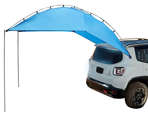 e SUV Tailgate Tent, Multi Use Awning,Outdoor Canopy Tent For SUV, MINI Van,Hatchback,Camper offers up to 79 sqft Shade (Blue Canopy Tailgate Tent)