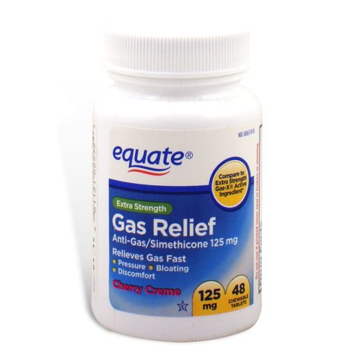 Equate - Gas Relief, Extra Strength, Simethicone 125 mg, 48 Chewable Tablets, Compare to ()