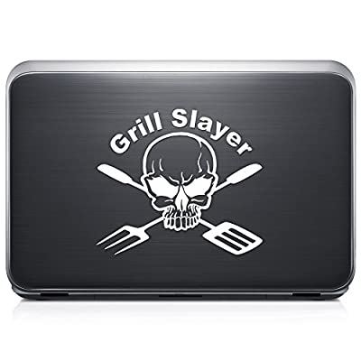 Death Skull BBQ Grill REMOVABLE Vinyl Decal Sticker For Laptop Tablet Helmet Windows Wall Decor Car Truck Motorcycle from GottaLoveStickerz