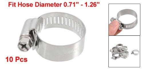 eDealMax 10 x 18 mm Perno de lanzamiento a 32 mm Tornillo sinfín de Abrazaderas de tubo aros - - Amazon.com