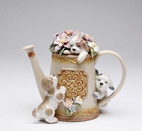 Cosmos 80100 Fine Porcelain Hide 'n Seek Dog Trio Musical Figurine, 5-Inch (Musical Dog Figurine)