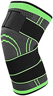 Nihlsfen 3D Pressurized Fitness Bandage Knee Support Brace Elastic Nylon Sports Compression Pad Sleeve for Running Cycling