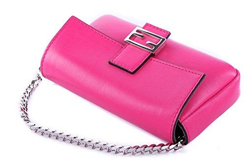 Fendi bolso de mano pochette mujer nuevo con bandolera micro baguette fuxia