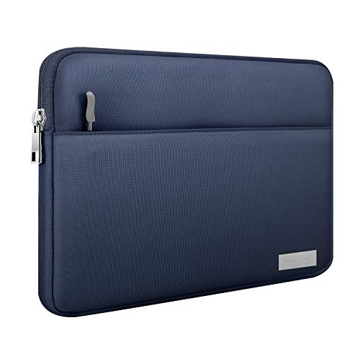 MoKo 9-11 Inch Sleeve Case Bag, Polyester Tablet Cover with Pocket Fits iPad Air 3 10.5″ 2019, iPad Pro 11 2018, iPad 9.7 2018/2017, Samsung Galaxy Tab A 10.1 / Surface Go 10″ 2018 – Indigo