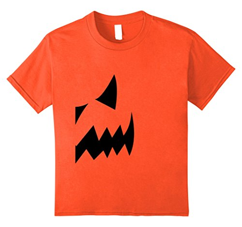 Duo Halloween Costumes For Kids (Kids Pumpkin Couples Costume Halloween Right Side T-shirt 10 Orange)
