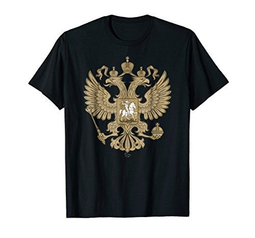 Vintage Double Headed Eagle Shirt Russian Coat of Arms -
