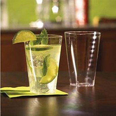 Clear Square 12 oz. Premium Plastic Cups Pack of 14 -