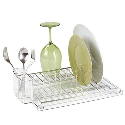 mDesign Kitchen Drainer Glasses Silverware