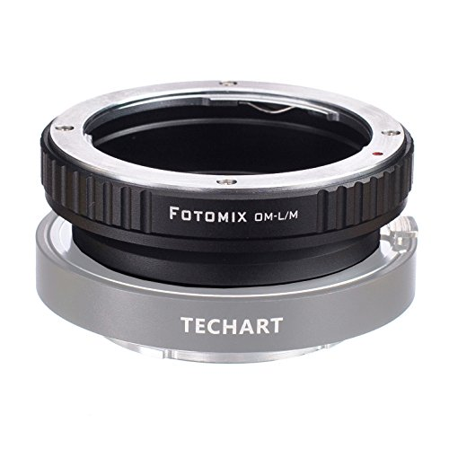 FOTOMIX OM-LM Mount Adapter for Olympus OM Lens to Leica M L/M M9 M8 M7 M6 M5 Camera Works with 5.0 TECHART Auto Focus LM-EA 7