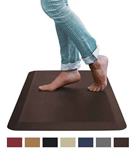 Sky Mat, Anti Fatigue Mat, 20 in x 39 in, Dark Brown - Standing Desk Mats, Commercial Grade Anti-fatigue Comfort Kitchen Floor Mats perfect for Standup Desks, Kitchens, and Garages