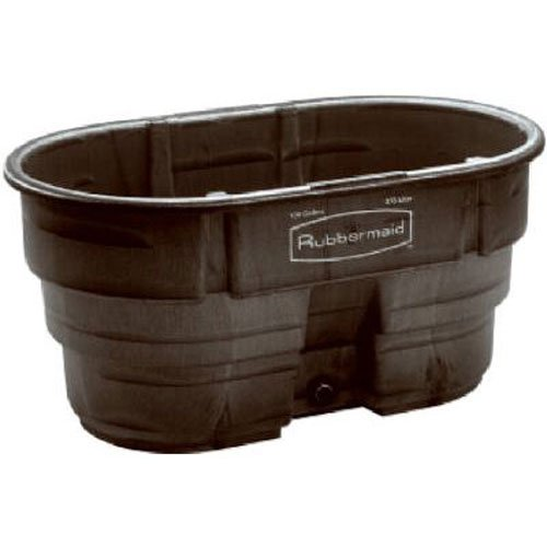 - Rubbermaid Commercial FG424288BLA Structural Foam Stock Tank, 100 Gallon Capacity, 53