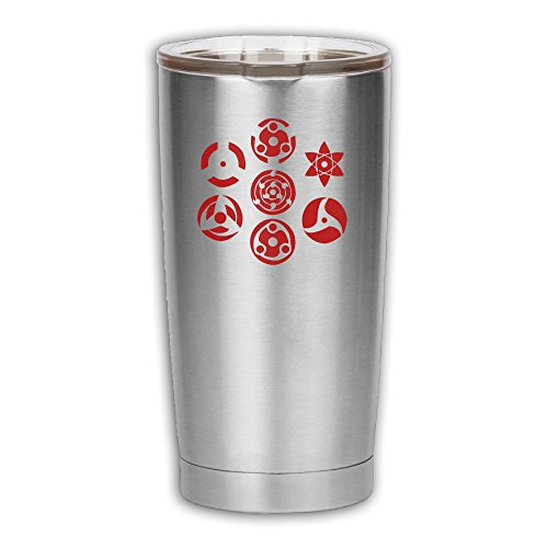 Sharingan Set Of 7 Pins Stainless Steel Vacuum Insulation Travel Cup & Coffee Mug For Home,Office,School - Works Great For Ice Drink, Hot (Fruit Ninja Costume Ideas)
