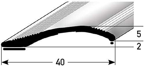 /Übergangsschiene acerto 51082 Alu H/öhenausgleichsprofil gold * 2-16mm * Inkl Bodenprofil f/ür Fu/ßb/öden Schrauben * /Übergangsprofil f/ür Laminat /Übergangsleiste Parkett /& Teppich 135cm