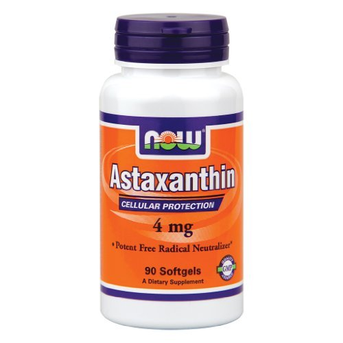 Now Foods Astaxanthin 4 mg - 90 Sgels 12 Pack by NOW Foods