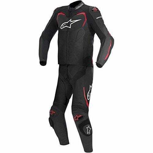 Alpinestars Men's GP Pro 2 Piece Leather Motorcycle Riding Suit, Black/Red, 46