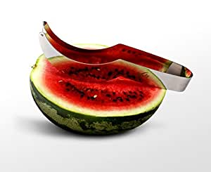 Watermelon Slicer the Best By VOTA- Slicer, Server, Corer & Tongs In One Great Tool- Supreme Stainless Steel Quality- Kid Friendly Kitchen Gadget- Works Wonders With Any Kind of Melons- Easy To Use!