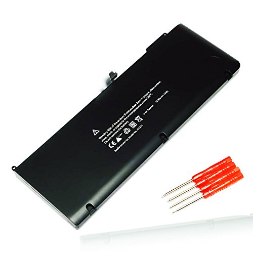 New Laptop Battery A1321 Replacement for MacBook Pro 15 inch MB985 MB986J / A MC118 MB986 (Only for Mid 2009, Early/Late 2010)