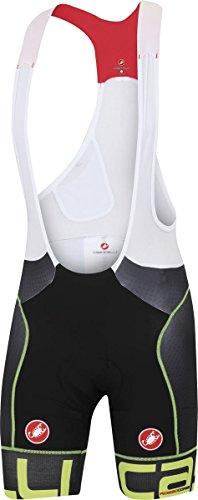 Castelli Free Aero Race Kit Version Bib Shorts - Men's Black/Yellow Fluo, L