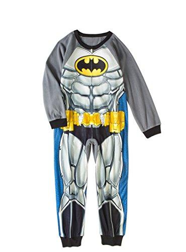Muscle Santa Costume (Batman Super Hero Boys Muscle Costume Fleece Pajama Sleeper (10/12))