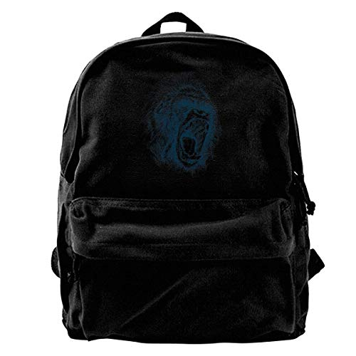 - NOLIEE Canvas Backpack Lowland African Gorilla Canvas Shoulder Backpack Limited Edition Premium NewHallowmas School Backpack Travel Rucksack