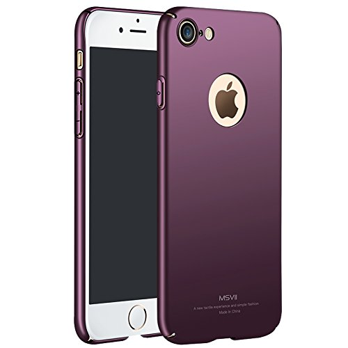 Yooky iphone 7 Case Cover ,Scratch Resistant Slim Hard Protective Cover Shell for iphone 7 (Purple) (Purple Hard Case)