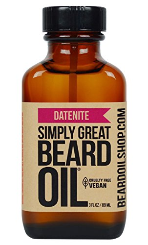 Simply Great Beard Oil – DATENITE Scented Beard Oil – Beard Conditioner 3 Oz Easy Applicator – Natural – Vegan and Cruelty Free Care for Beards – America's Favorite