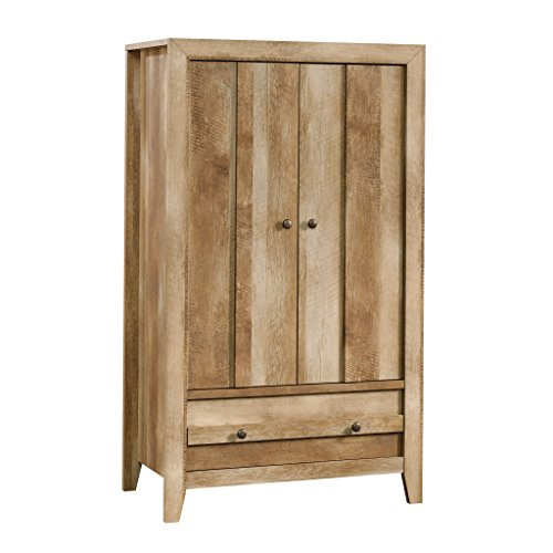 "Sauder 419077 Dakota Pass Armoire, 33.78"" L x 19.53"" W x 57.84"" H, Craftsman Oak finish"