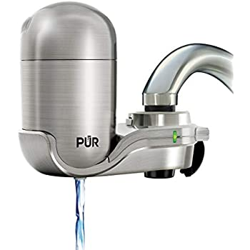 PUR PUR-0A1 Faucet Water Filter, Stainless Steel