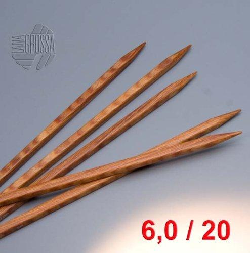 lana Grossa-aguja juego madera Quattro longitud 20 cm//Grosor 4,5 Lana creativo