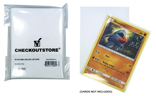 CheckOutStore 5,000 Matte White Protective Sleeves for Trading Cards (66 x 91 mm)