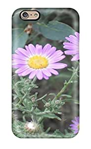 Fashionable Style Case Cover Skin For Iphone 6- Small Purple Flowers Earth Weeds Nature Flower