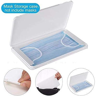 Caja de mascarillas. Estuche para almacenar mascarillas. Protege tus mascarillas de la suciedad y el polvo. Apertura fácil de pestañas. Capacidad de hasta 5 mascarillas.