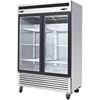 BRAND NEW COMMERCIAL 2 GLASS DOOR REFRIGERATOR.