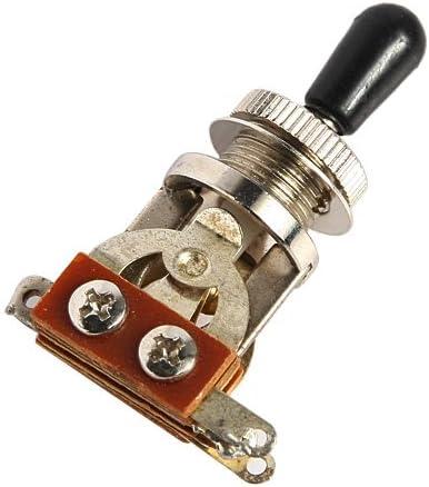 2pcs 3 WAY Toggle Switch//knob Chrome Electric Guitar Part