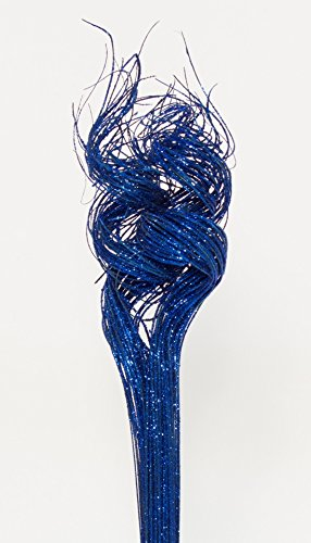 Green Floral Crafts 2.5 Ft Extra Tall Sparkle ROYAL BLUE Curly Ting, (Approx. 40-50 Stems)- Party Table Centerpieces ()