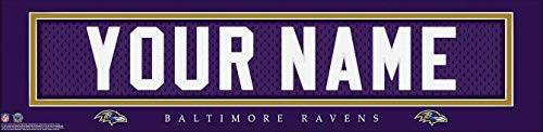 Baltimore Ravens NFL Jersey Nameplate Wall Print, Personalized Gift, Boy's Room Decor 6x22 Unframed -