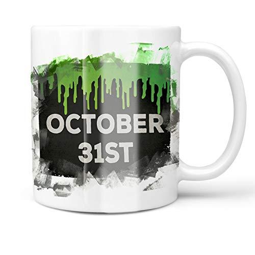 Neonblond 11oz Coffee Mug October 31st Halloween Green Slime with your Custom Name -