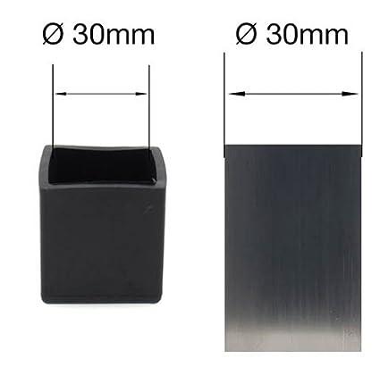 30/mm 1/3//16/ cuadrado de goma puntas tapones para patas virola tapas para mesa y silla Piernas por lifeswonderful/®